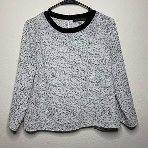 Rose & Olive Black & White Patterned Blouse
